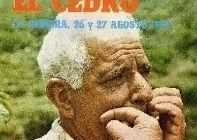 Legado Silbo Gomero, Grandes Silbadores, Silbador  Prudencio Sánchez Foto de Archivo